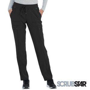 ScrubStar Women's Stretch Yoga Scrub Pants, Black